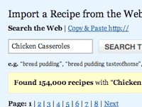 Search Import Recipes from 100+ Websites