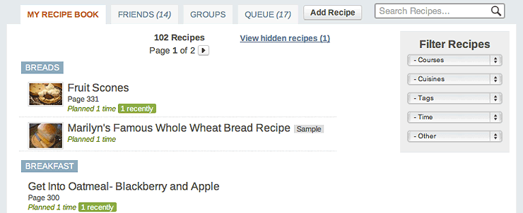 Recipes Share Import Search Plan